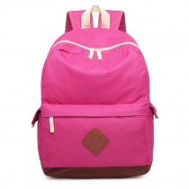E1664-MISS LULU LARGE SCHOOL BAG BACKPACK FUCHISA