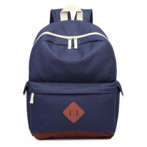 E1664 - Large Unisex Polyester School Backpack Navy