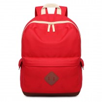 E1664 - Large Unisex Polyester School Backpack Red