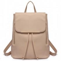 E1669 - panna Lulu Faux Skórzana Stylowa Fashion Backpack - Beige