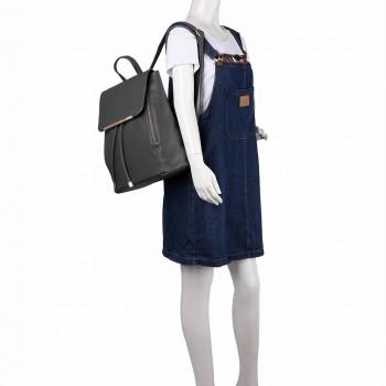 E1669- Miss Lulu Ladies Fashion PU Leather Backpack GRAY