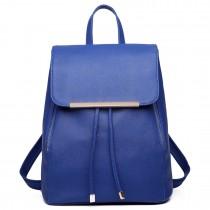 E16669 --Domnisoara Lulu Faux Leather Stylish Fashion Backpack Navy