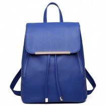 E1669- Miss Lulu Ladies Fashion PU Leather Backpack navy