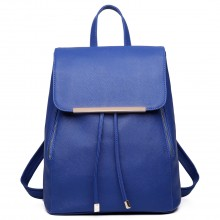 E1669 - Miss Lulu Faux Leather Stylish Fashion Backpack Navy