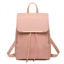 E1669 - Miss Lulu Faux Leather Stylish Fashion Backpack Pink