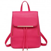 E1669 - Miss Lulu Faux Leather Stylish Fashion Backpack Plum