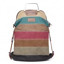 E1711 - Kono Rainbow Canvas Stripe Backpack