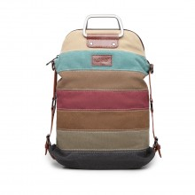 E1711 - Kono Rainbow Canvas Stripe Backpack
