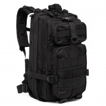 E1729 - Kono Multi Compartment Functional Hiking Backpack Black