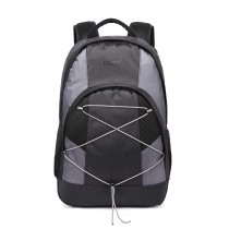 E1730 - Kono Casual Day School Backpack Black