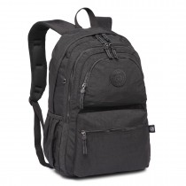 E1733 - Multi Compartment Functional Water Resistant Backpack Black