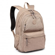 E1733 - Multi Compartment Functional Water Resistant Backpack Khaki