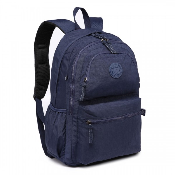 E1733 - Multi Compartment Functional Water Resistant Backpack Navy