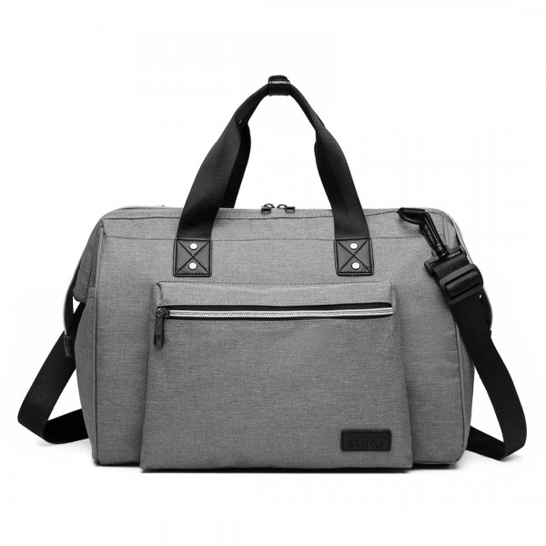 E1802 - Kono Maternity Baby Changing Bag Shoulder Travel Bag Grey
