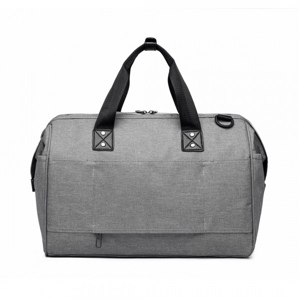 E1802-MISS LULU Maternity Baby Changing Bag Shoulder Travel Bag Grey
