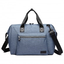E1802-MISS LULU Maternity Baby Changing Bag Shoulder Travel Bag Blue