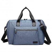 E1802-MISS LULU Wickeltasche Große Baby Wickel-Schulter-Tasche Multifunktionale blau