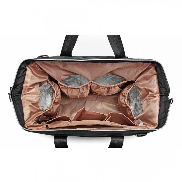 E1802 - Kono Maternity Baby Changing Bag Shoulder Travel Bag Black