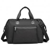 E1802-MISS LULU Maternity Baby Changing Bag Shoulder Travel Bag Black