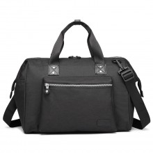 E1802-MISS LULU Maternity Baby Changing Bag Shoulder Travel Bag Black