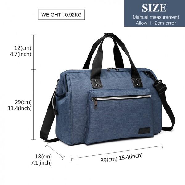 E1802-MISS LULU Maternity Baby Changing Bag Shoulder Travel Bag Blue