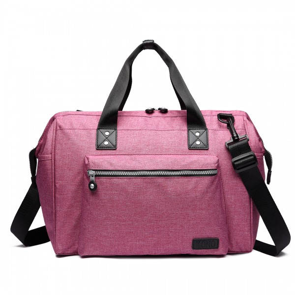 E1802-MISS LULU Maternity Baby Changing Bag Shoulder Travel Bag Pink