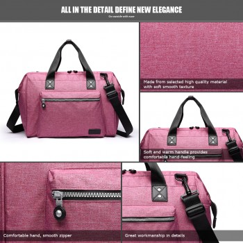 E1802-MISS LULU Maternity Baby Changing Bag Shoulder Travel Bag Pink