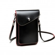 E1805- Women PU Leather Slim Mobile Cross Body Bag  black