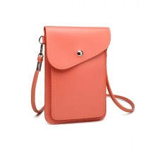 E1805- Women PU Leather Slim Mobile Cross Body Bag  pink