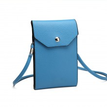 E1806- Women PU Leather Slim Mobile Cross Body Bag  blue