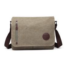 E1824- KONO Canvas Retro Crossbody Messenger Bag Green