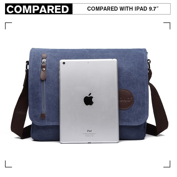 E1824- KONO Canvas Retro Crossbody Messenger Bag Navy