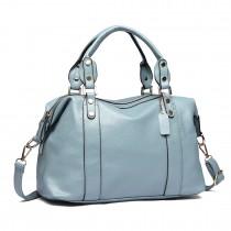 E1828-Miss LULU Soft PU Leather Shoulder Handbag Blue