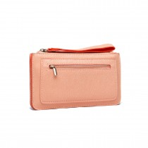 E1830 NE-Miss Lulu PU Leather Hand Clutch Purse Small Bag Nude