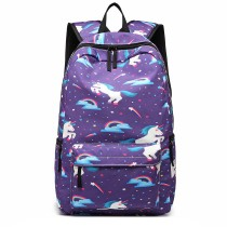 E1833 --miss LULU UNICORN PRENTATE SCOL BACKACK --PURPLE