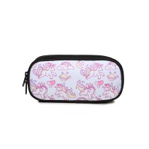 E1834 - MISS LULU UNICORN PRINTED PENCIL CASE - LIGHT BLUE