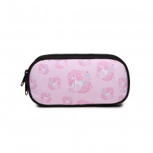 E1834 - MISS LULU UNICORN PRINTED PENCIL CASE - PINK