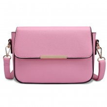 E1854-MISS LULU PU EN CUIR CHIC CROSSBODY SAC À MAIN ROSE