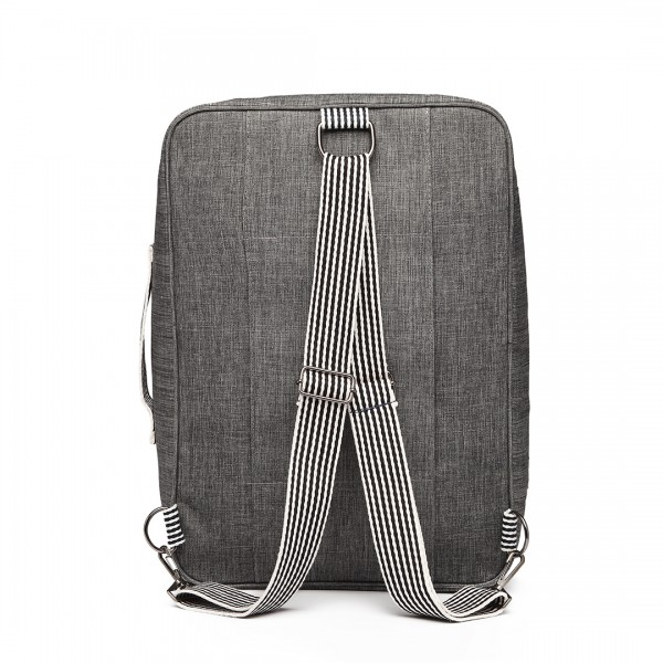E1911 - Kono Multi-Functional Cross Body Backpack Hand Luggage - Grey