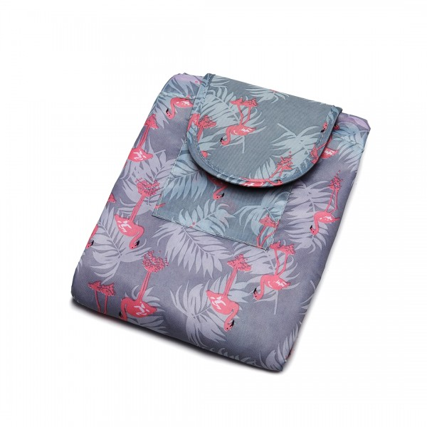 E1912 - Miss Lulu Lazy Drawstring Travel Make Up Cosmetic Bag - Flamingo Blue