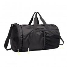 E1921-KONO MULTIFUNCTIONAL WATERPROOF CLOTH BACKPACK AND DUFFEL BAG BLACK