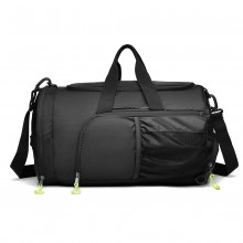 E1921-KONO MULTIFUNCTIONAL WATERPROOF CLOTH GYM SPORT BACKPACK AND DUFFEL BAG BLACK