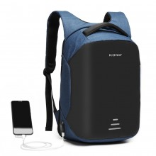 E1946-KONO SAC A DOS INTERFACE DE CHARGE USB REFLECTIVE - NAVY