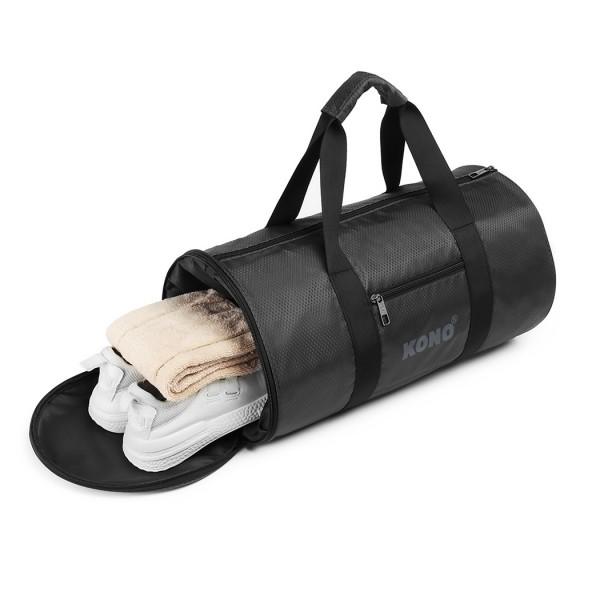 E1956 - Kono Polyester Barrel Duffle Gym/Sports Bag - Grey