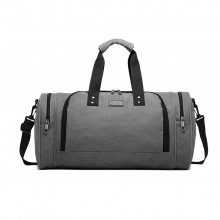 E1957 - Sac de voyage Kono Canvas Barrel Duffle - Gris