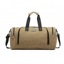 E1957 - Sac de voyage Kono Canvas Barrel Duffle - Kaki