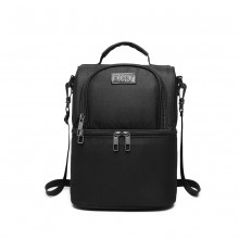E1958-KONO INSULATED COOL BAG FAMILY LUNCH BOX - BLACK