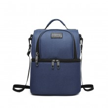 E1958-KONO INSULATED COOL BAG FAMILY LUNCH BOX - NAVY