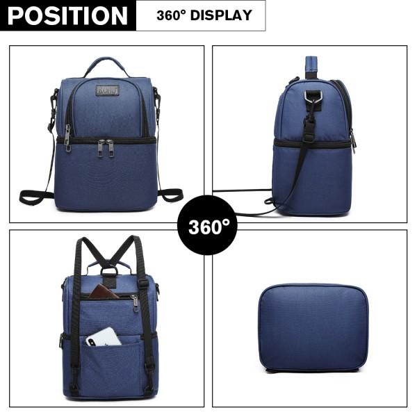 E1958-KONO INSULATED COOL BAG FAMILY LUNCH BOX - NAVY