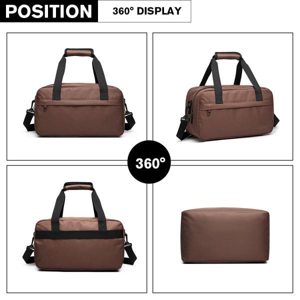 E1960 - Sac à bandoulière Kono Multi Purpose pour Homme - Marron